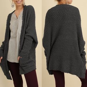 BETHANY Softest MUST HAVE Cardi- charcoal